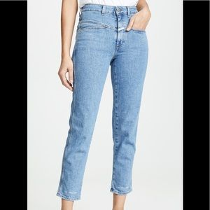 Anthro Closed Pedal Pusher High Waist Jeans